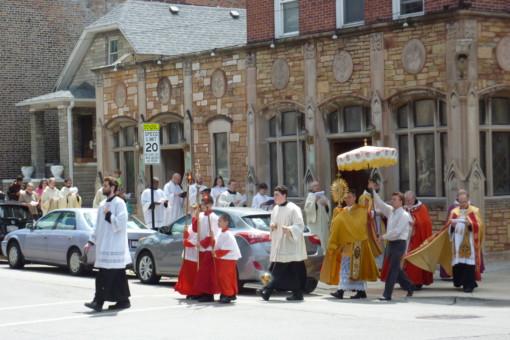 Corpus Christi procession with neighboring St. Mary of Perpetual Help Parish